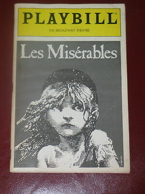 Les Miserables Broadway Playbill original cast May 1987 Colm Wilkinson