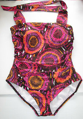 Vintage Ladies Moda Size 16 One Piece Swimmers Swimwear Bathers Support Bust