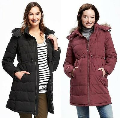 Nwt Old Navy Maternity Hooded Frost Free Puffer Coat Jacket S M  L  Xl