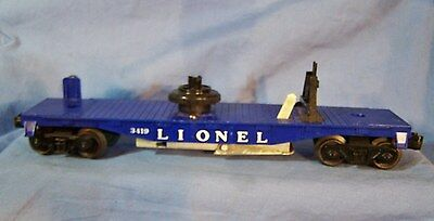 Vintage Lionel Train O Gauge HELICOPTER LAUNCHING FLAT Car 3419