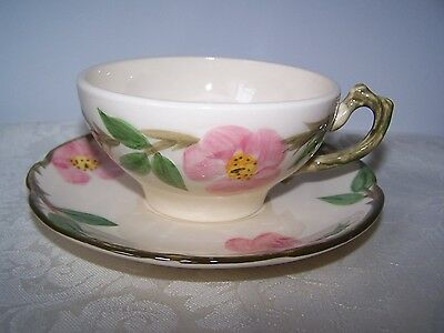 Franciscan Desert Rose Cup And Saucer Made In California Usa