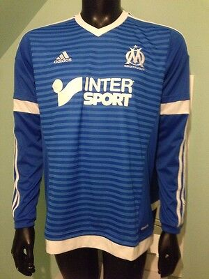 """Marseille Shirt France """"mendy 23"""" Large Long Sleeved RRP £64.99"""
