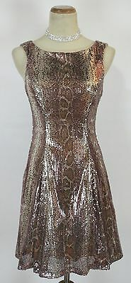NWT WINDSOR $90 Bronze Cocktail Club Prom Party Dress 5