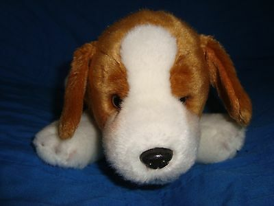 "Yomiko Classics Beagle Dog Plush and Beans Russ 16"" long"
