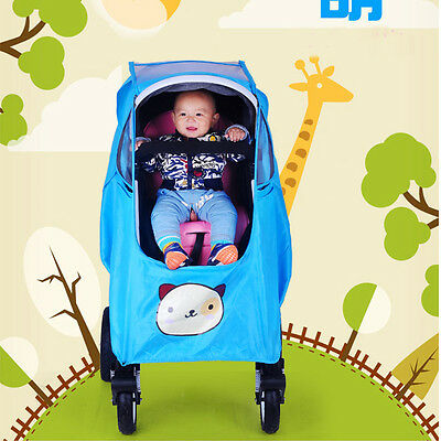 Universal Waterproof Baby Buggy Pushchair Stroller Pram Rain Cover Wind Shield