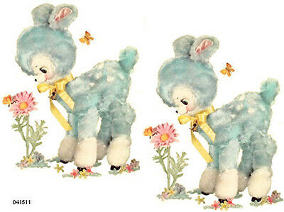 XL MeYerCoRD RePrO ToY BLuE LamBs SHaBbY WaTerSLiDe DeCALs ~FurNiTuRe SiZe~