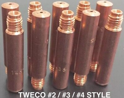 "200x 1.2MM TWECO® .045"" CONTACT TIPS HEAVY DUTY 14H-45 • USA MADE • FREE AU POST"
