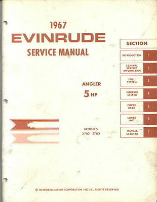 evinrude 5 hp 5702 5703 angler outboard motor service repair shop rh picclick com Evinrude Serial Numbers by Year 1967 Johnson 33 HP