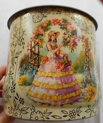 Baret Ware England Biscuit Tin Container #117 Floral