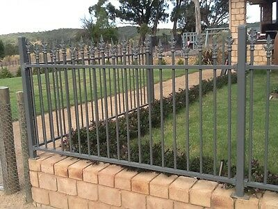 Steel Fence Panels - Height 1.2m  Approx 19m total length - woodland grey