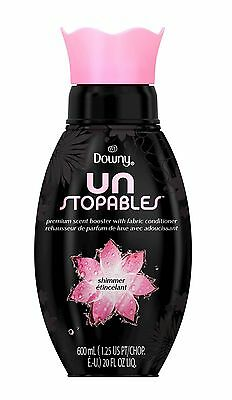 1 Downy Unstopables SHIMMER Premium Scent Booster Fabric Conditioner 20 fl oz ea