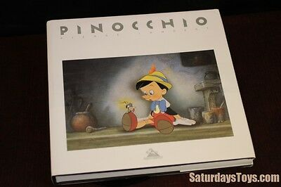 1995 PINOCCHIO Pierre Lambert Hardcover FRENCH First Edition Walt Disney w/ cel