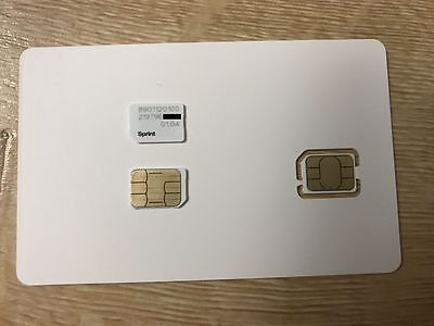 New Sprint NANO SIM Card 01.04 for iPhone 5c, iPhone 5s, iPhone 6 & 6+ and more