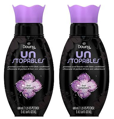 2 Downy Unstopables LUSH Premium Scent Booster Fabric Conditioner 20 fl oz ea