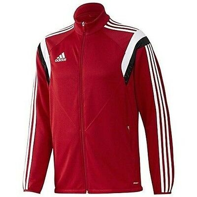 Men Adidas CONDIVO 14 Training Soccer Jacket GENUINE Full Zip Hooded Top Size XL