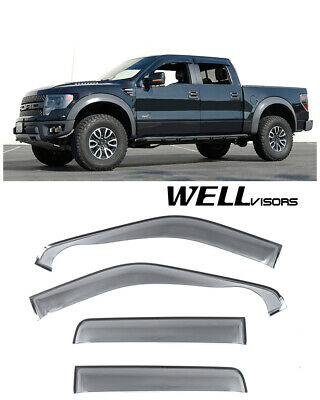 For 09-14 Ford F-150 Crew Cab WellVisors Side Window Visors Off Road Series
