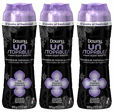 3 Downy Unstopables LUSH In-Wash Scent Booster 13.2 oz