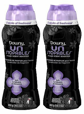 2 Downy Unstopables LUSH SCENT In-Wash Scent Booster 19.5 oz each
