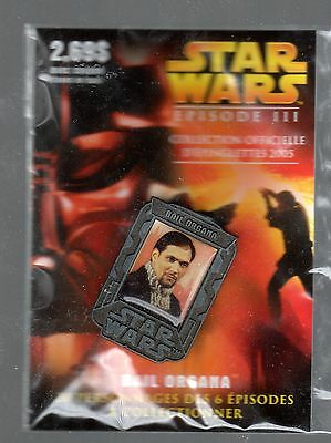 2005 Star Wars Episode Iii Lapel Pin (Sold In Quebec Prov. Only) Bail Organa