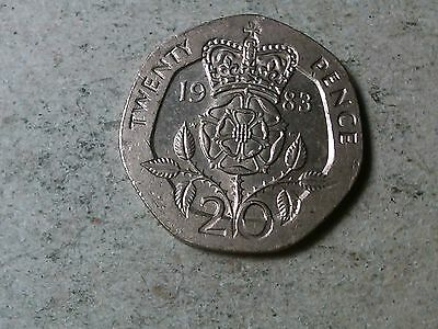 Great Britain 20 pence 1983 7-sided coin