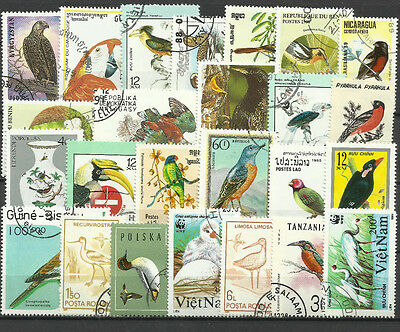 BIRDS Collection Packet 25 Different Stamps (Lot 2)
