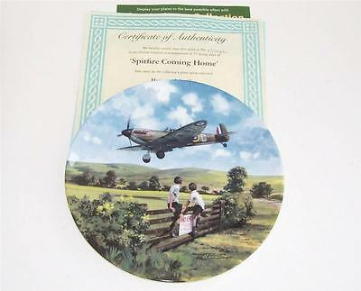 Royal Doulton Collectors Plate/Plaque.Heroes of the Sky.Spitfire Coming Home.