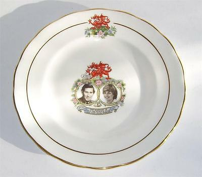 Queen Anne English Bone China Collectors Plate.Prince Charles & Lady Diana c1981