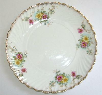 Antique  English Bone China Hand Painted Cake/Sandwich Plate.