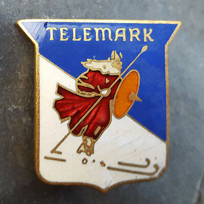 TELEMARKSkier Resorts Travel Skiing Ski Lapel Hat Pin ~ Wisconsin WI