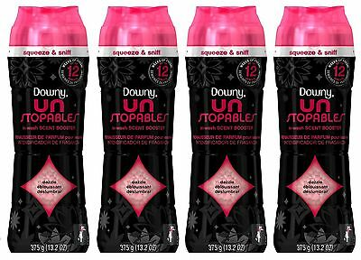 4 Downy Unstopables Red DAZZLE SCENT In-Wash Scent Booster 13.2 oz