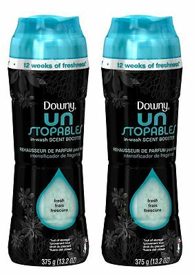 2 Downy Unstopables MIST SCENT In-Wash Scent Booster 13.2 oz