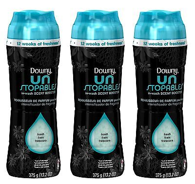 3 Downy Unstopables MIST SCENT In-Wash Scent Booster 13.2 oz