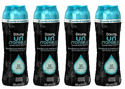 4 Downy Unstopables MIST SCENT In-Wash Scent Booster 13.2 oz