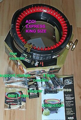 2 Knitting machines ADDI EXPRESS KING SIZE 46n + PROFESSIONAL 22n + accessoires