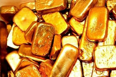 250 grams gold recovery gold bar Melted Drop Scrap plated Recovered cpu