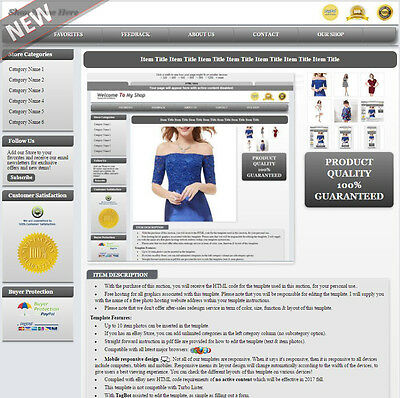eBay HTML Auction Template Mobile Responsive - No Active Content Version MR1sn