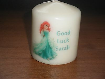 Candle Picture Disney Type Ariel Princess Personalised Birthday Friend Mum New
