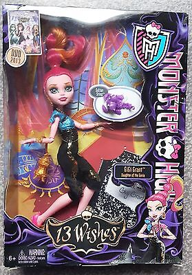 New Boxed - Monster High Doll 13 Wishes Gigi Grant Daughter Of The Genie