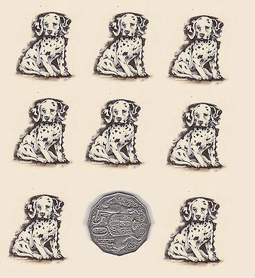 "8 x Waterslide ceramic decals Dog, puppy. animal Approx. 1 1/4"" x 1 1/4""  PD704"