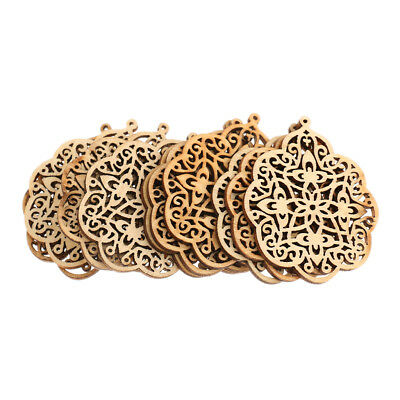 10pcs Laser Cut Wood Shapes for Crafts Wood Charms DIY Woodcrafts Decoration