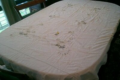 Cotton Embroidered Tablecloth Good Quality