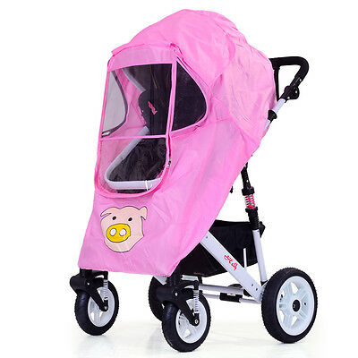 New Stroller Universal Dust Insect Wind Storm Rain Cover Protector Pram Shield