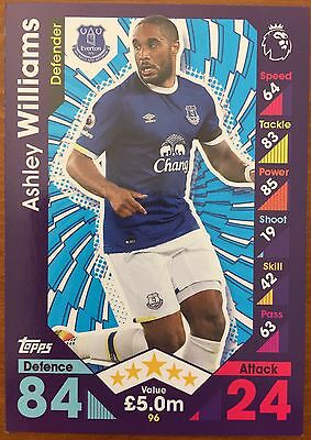 Match Attax 2016/2017, #96 Ashley Williams, Everton Trading Card