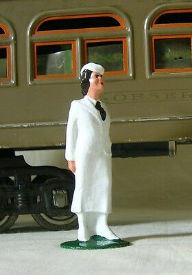 Hostess in white suit, Standard Gauge train layout figure, New/Reproduction