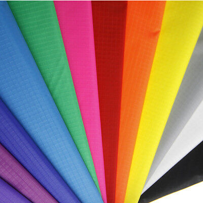 16 Colours Water Resistant Ripstop Nylon Fabric PU Coated for Outdoor Kite Tent