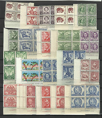 AUSTRALIA COLLECTION of 20 DIFFERENT IMPRINT BLOCKS of 4 MNH (Lot 3)