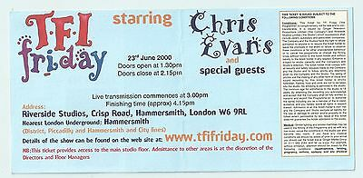 TFI Friday Ticket 23 June 2000 David Bowie