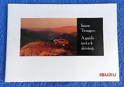 Isuzu Trooper Brochure (4x4 driving), inc FREE p/p