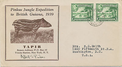 BRITISH GUIANA Great item for the chess collector -1939 PINKUS Jungle EXPEDITION