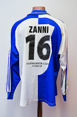 Grasshoppers Switzerland Match Worn Football Shirt Jersey Adidas Zanni Equipment